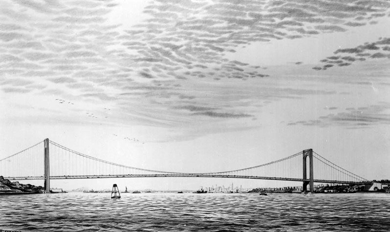 View of the Verrazano Bridge from South Beach