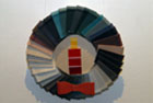 Image of Trand Bui, Untitled, rubber stair tread and paint samples on wood