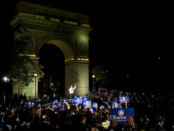 Barack Obama Campaign Rally, Washington Square Park, September 27, 2007