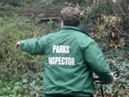 Photograph of a Park Inspector at work