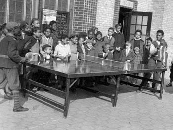 Ping-Pong, Mount Morris Park, Manhattan, April 26, 1943
