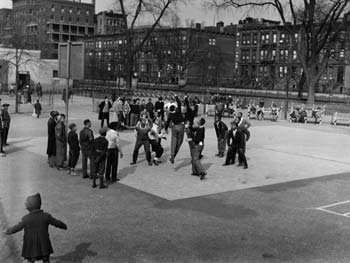 Boys Basketball, Mount Morris Square, Manhattan, April 26, 1943