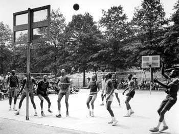 Basketball, Rucker League, Mount Morris (now Marcus Garvey) Park, July 23, 1966