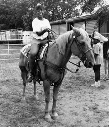 Girl on Horse, 10th Black Rodeo, Downing Stadium, Randall's Island, July 8, 1993