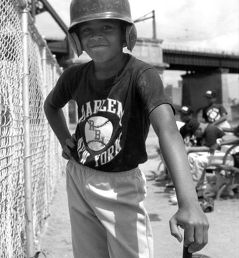 Boy with Helmet, Harlem RBIS, Randall's Island, August 5, 1993