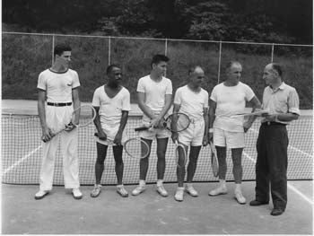 Men's Tennis Class, Forest Park, Queens, July 11, 1943