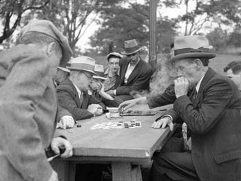 Checkers Players, Fort Greene Park, Brooklyn, September 24, 1934