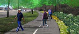 rendering of Springville Greenway