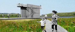 rendering of North Park bird observation tower