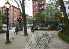 Bleecker Sitting Area Ribbon Cutting