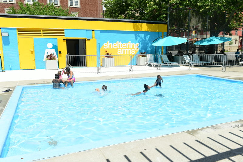 Sheltering Arms Playground Outdoor Pools : NYC Parks