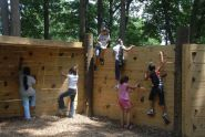 Breaking in the Kids' Climbing Wall