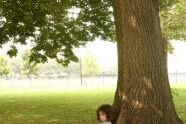 A Girl under a Tree