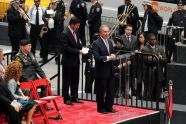 Mayor Michael R. Bloomberg speaks at the opening ceremony