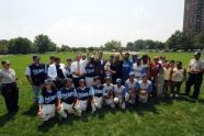 Baseball teams at the park