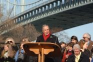 Mayor Michael R. Bloomberg speaks at the bridge renaming