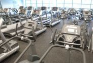 Fitness machines in Chelsea Recreation Center