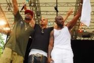 The day's performers--Ginuwine, Chico Debarge, and Joe