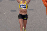 Second place women's runner, Russian Ludmila Petrova