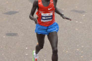 Kenyan Robert Kipkoech Cheruiyot finishes second