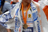 Italian Migidio Bourifa, 13th place finisher
