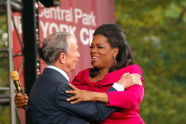 Mayor Michael R. Bloomberg welcomes Oprah