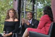 Mariah Carey and Nick Cannon speak to Oprah
