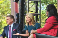 Regis Philbin and Kelly Ripa join Oprah on the stage