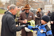 Mayor Michael Bloomberg at the McCarren Pool groundbreaking