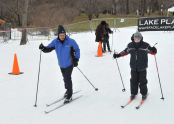 Commissioner Adrian Benepe offers skiing tips