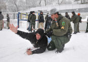 The training also included the enduring of the cold weather of New York in January.