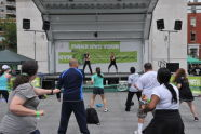 Cardio Kick at the BeFitNYC Fitness Festival
