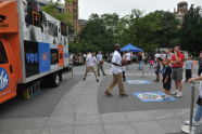 New York Knicks Groove Truck at BeFitNYC Fitness Festival