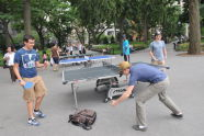 Outdoor Table Tennis at the BeFitNYC Fitness Festival
