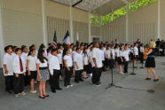 The P.S. 166 / Richard Rodgers School Fifth Grade Honors Choir performs at The Richard Rodgers Amphitheater