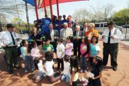 Cutting the Ribbon on Corona Golf Playground