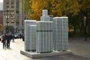 City (2004), three-dimensional aluminum modernist skyscrapers