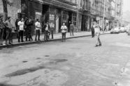 Men Playing Stickball on Thompson Street