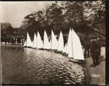 Boys' Model Boat Sailing, Conservatory Water,  ca. 1920,