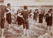 Bathers in Surf, Far Rockaway Beach, Queens, c. 1897