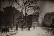 Sheridan Square in Snow, Christopher Park,Manhattan, c.1905-20,