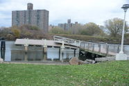 Damage to the Hunts Point Riverside Park Pier