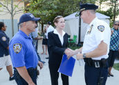 Meeting the NYPD at National Night Out