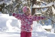 A child enjoys the snow