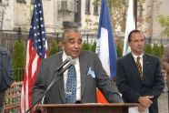 Congress Member Charles Rangel speaks