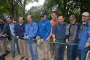 Cutting mountain biking trail the ribbon