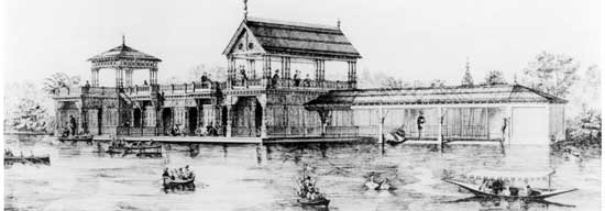 Central Park Boathouse, Manhattan, circa 1873, New  York City Parks Photo Archive
