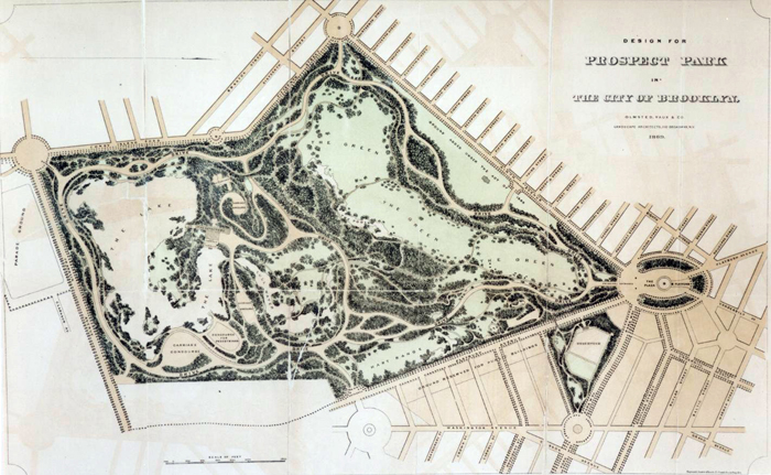 Olmsteddesigned parks nyc parks image of design of prospect park circa 1868 neg ar1059a malvernweather Choice Image