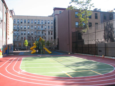 PS 76M after construction of playground