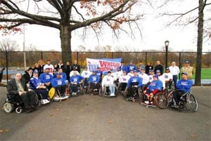 Players and Supporters at Wheechair Football Field